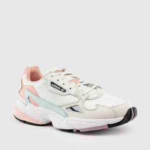 NEW IN BOX Adidas Retro Falcon White & Pink size 9